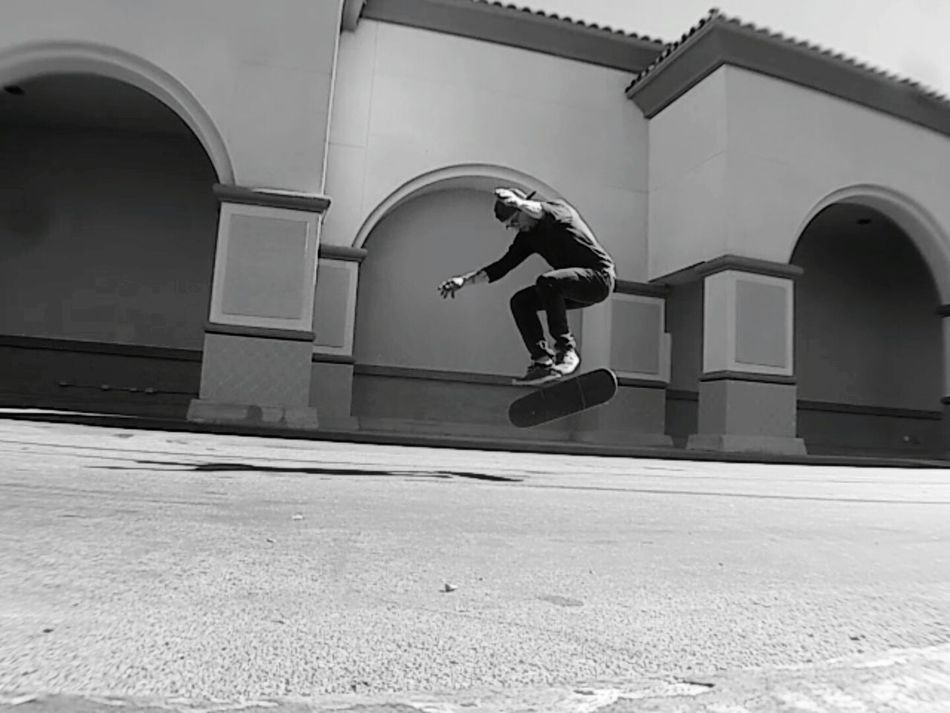 Skateboarding Is Fun SkateboardLifeStyle One Person Outdoors Red Curbs