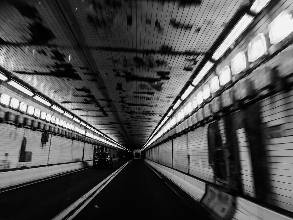 Blue Mountain Tunnel Newburg Pennsylvania Diminishing Perspective Tunnel Journey Summertime Pennsylvania EyeEmBestPics Light And Shadow Tunnel Vision Claustrophobia  Electricity  Turnpike Traveling