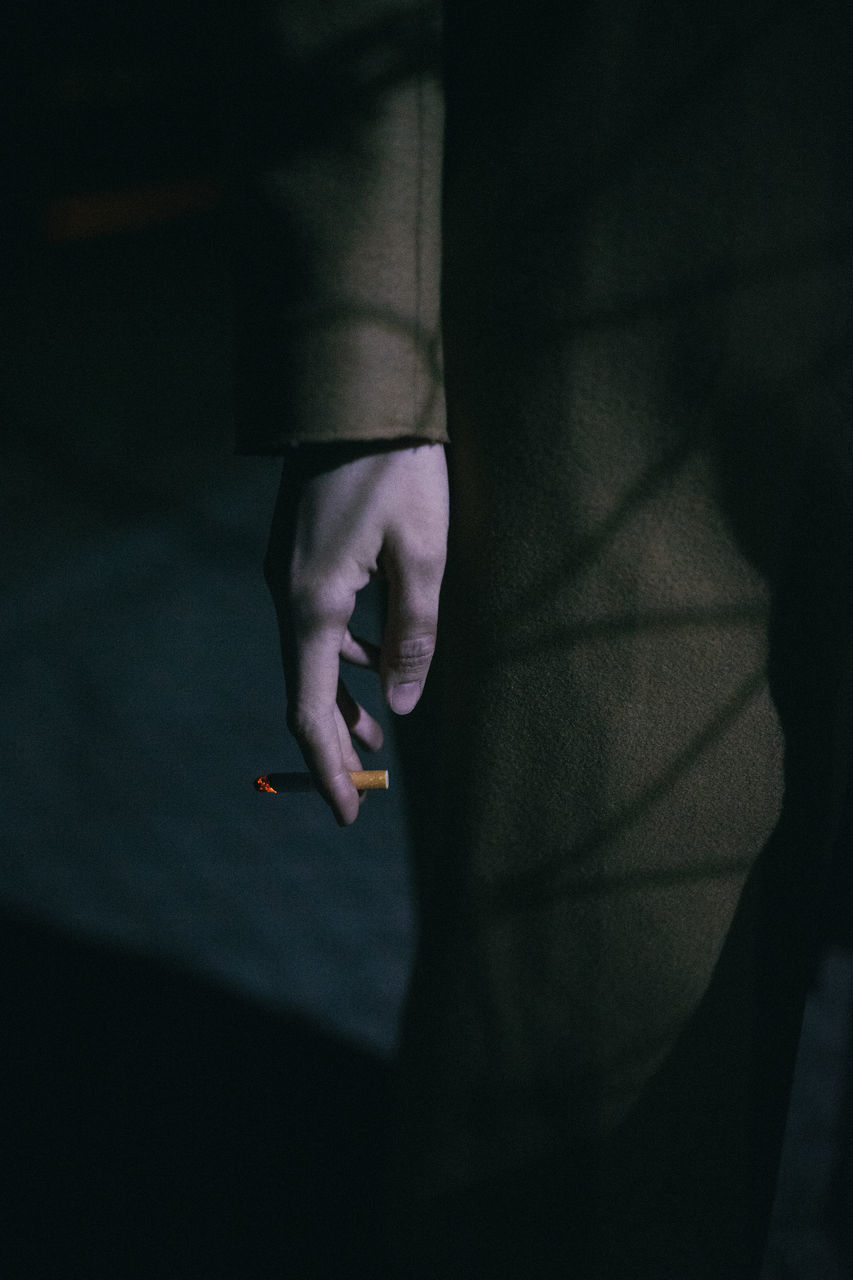 real people, human hand, one person, bad habit, indoors, shadow, holding, lifestyles, close-up, addiction, human body part, women, day, people