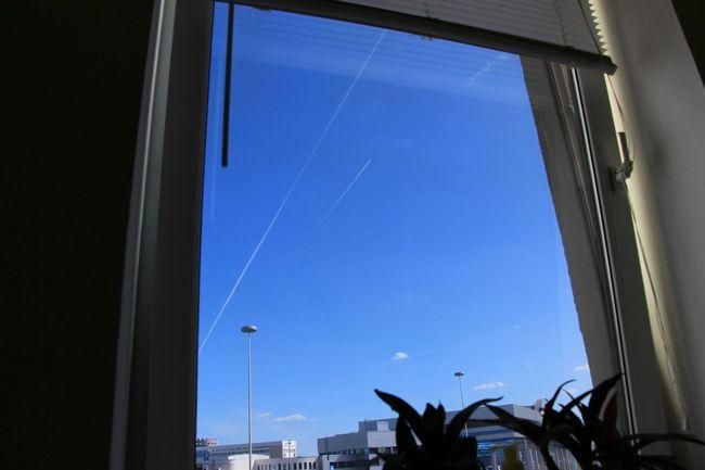 Window Windowview Office Officeview Sky Blue Sky Airplanes Lastsummerdays