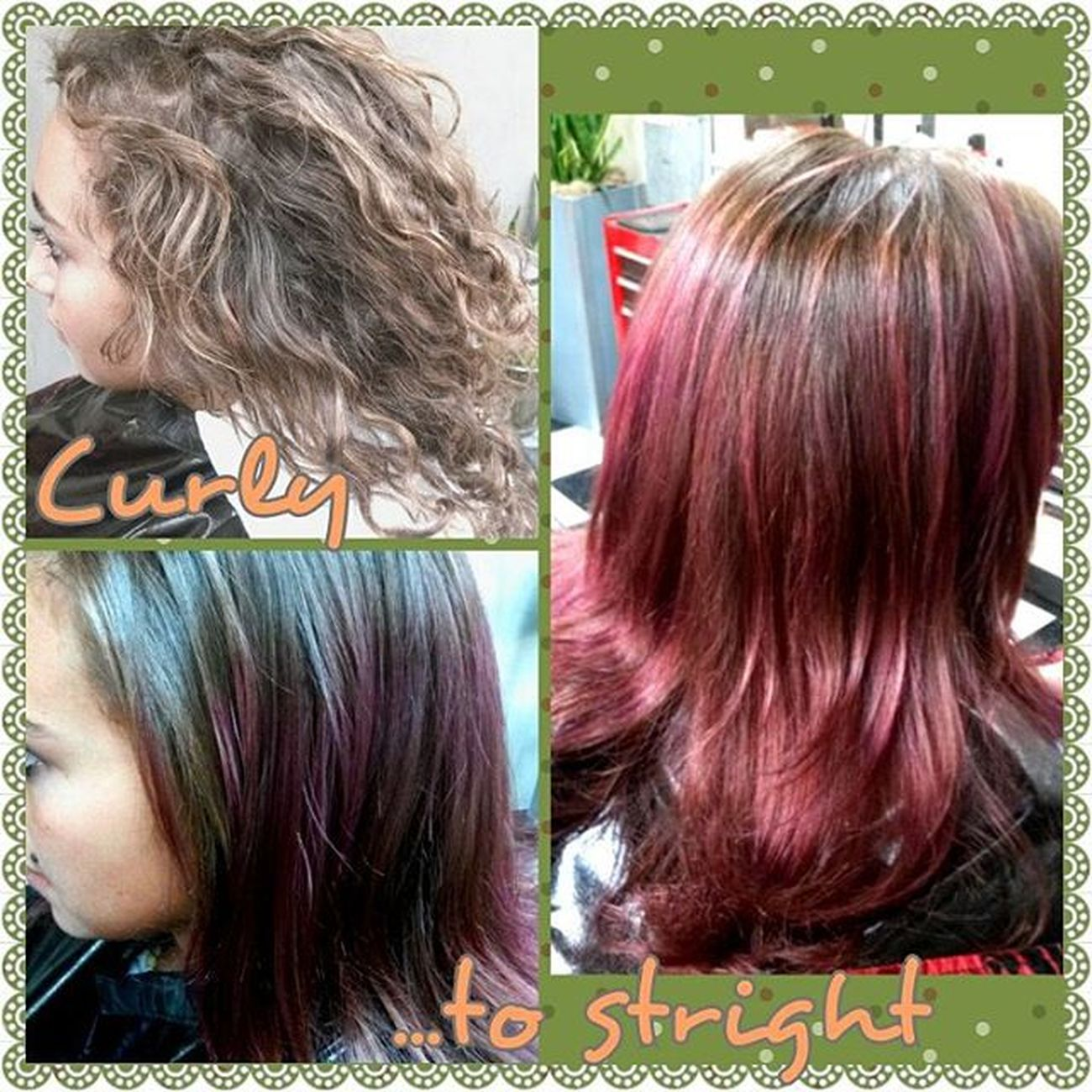 Curlytostright Beautifully  Beautybytammy Mainstreethaircompany huntingtonbeach