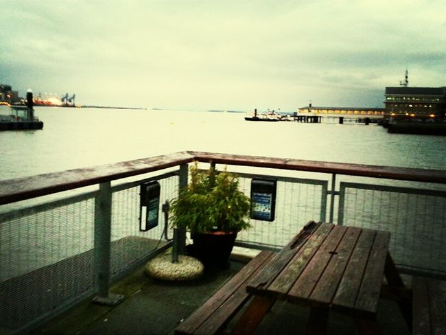 A lovely view of the Thames from the Riva bar, Gravesend, Kent.