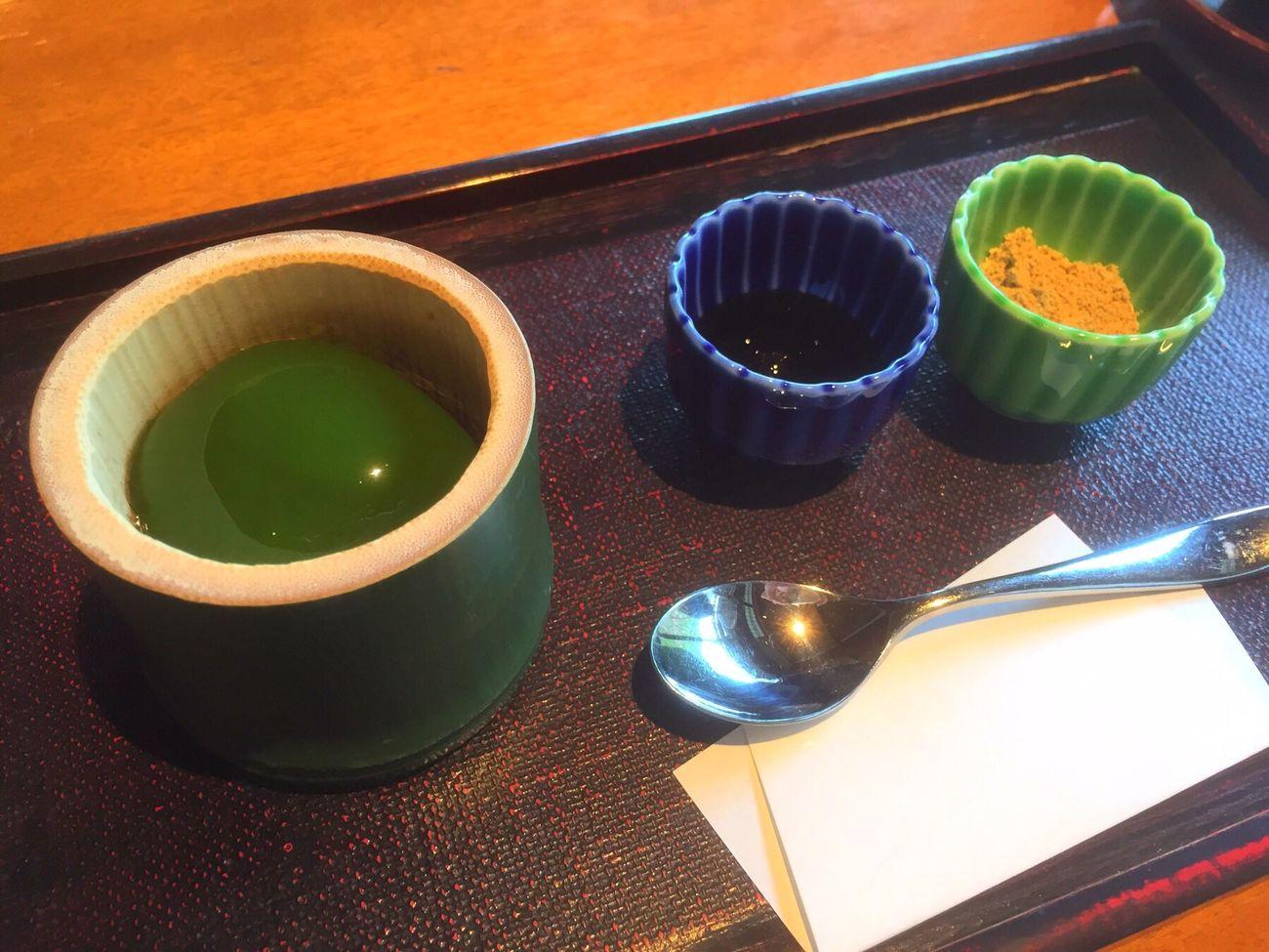 茶寮 八翠で食べた翡翠もち😋 in 嵐山 Japan Kyoto Arashiyama Matcha Greentea Ricecake Yammy!!  Sweets IPhoneography Japan Photography
