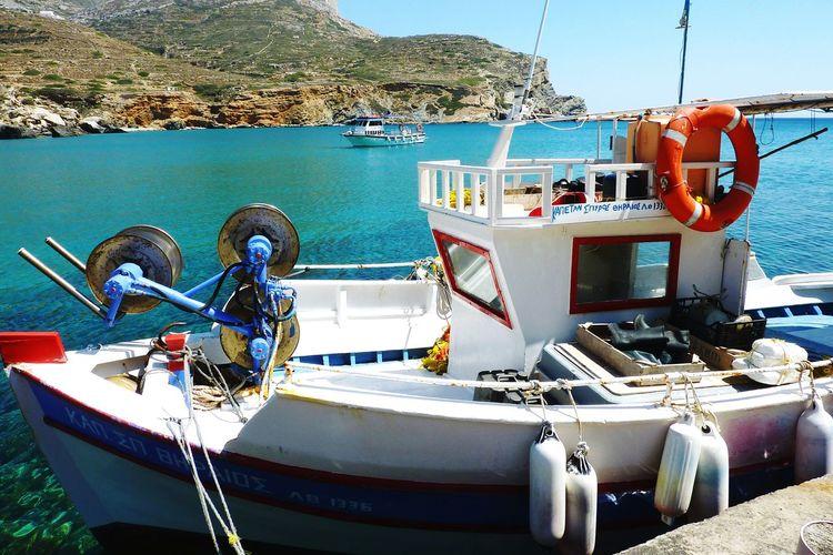 Greece Island Islandhopping Folegandros Water Boat Sea