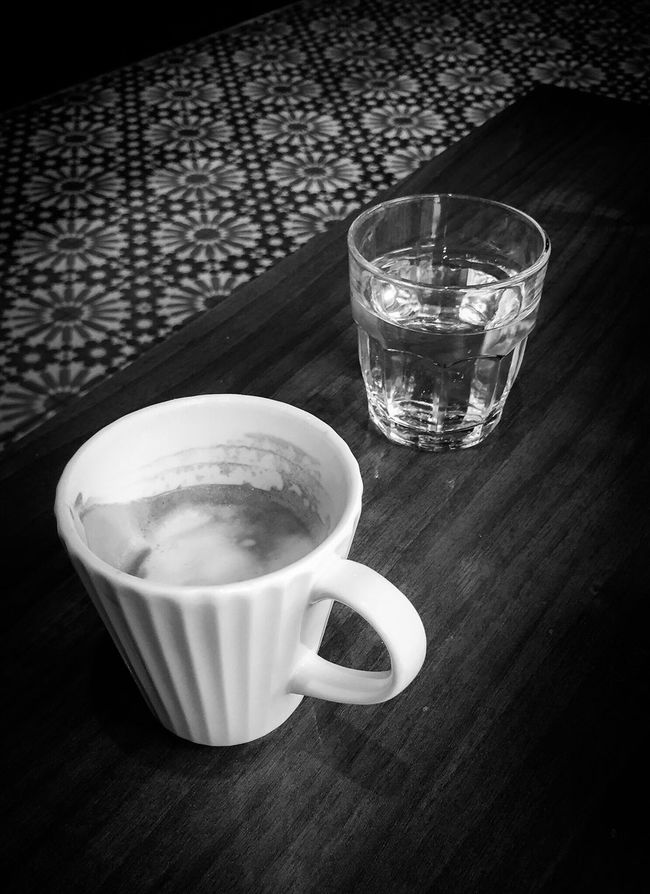 Fueling up on brown gold before hitting the streets. Breakfast Coffee Good Morning Morning Enjoying Life Hotel Breakfast EE_Daily: Black And White The Moment - 2015 EyeEm Awards Black And White Blackandwhite