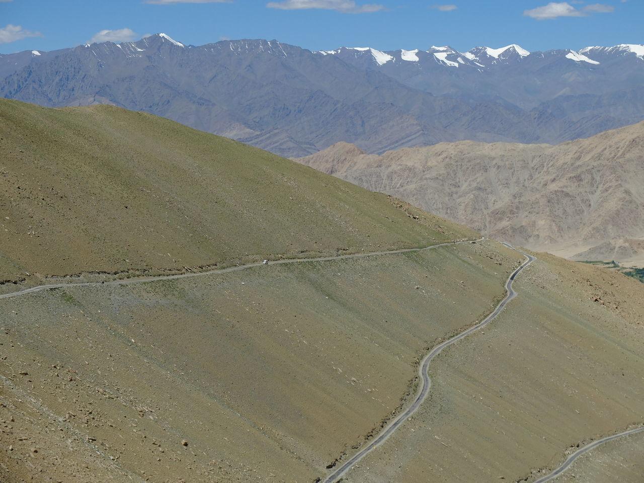 Dangerous Road Day Jammu And Kashmir Landscape Leh Ladakh Mountain Nature No People Outdoors Sand Sand Dune Scenics Sky