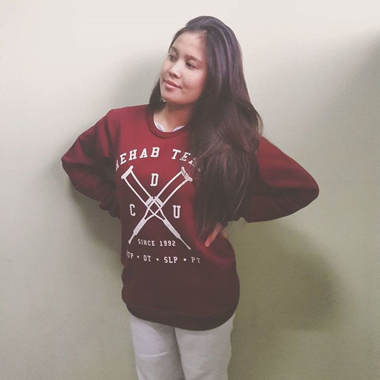 Avail of our RS sweat shirts at 650 pesos! Also available in gray. Sizes available - Small, Medium (the one in the picture), Large To place an order, contact either one of these numbers ----- (Lorenzi) 09434746060 or (Inna) 09176092756 All proceeds will be used for our community rehab programs. LONG LIVE REHAB SCIENCE!!!!! RehabScience RehabTeam OT Pt  Slp RTP Cdu