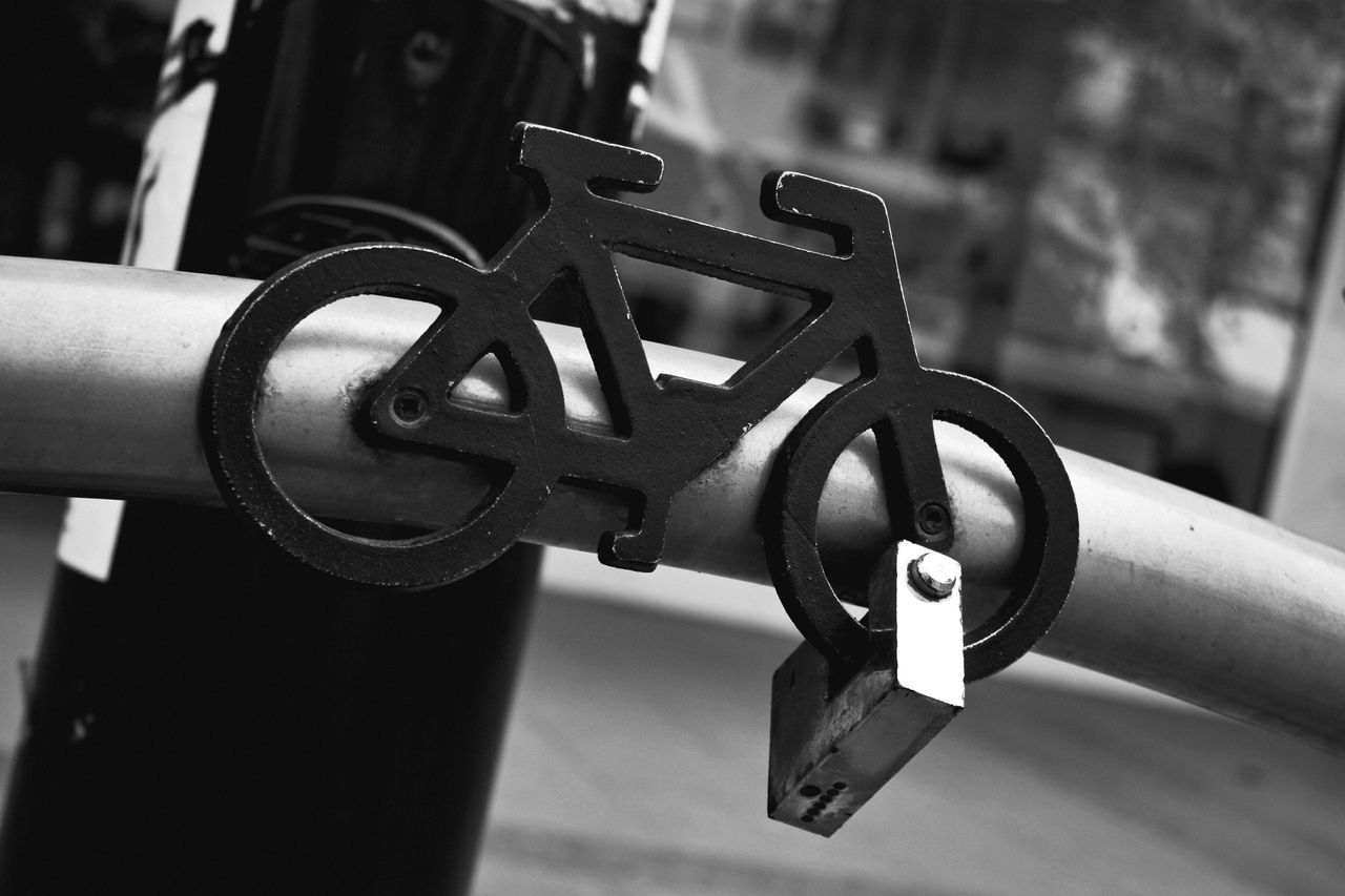 Focus On Foreground Metal Close-up No People Outdoors Day Bicycle Lock Street Street Photography Monochrome Black And White EyeEm Best Shots Check This Out Cycling Gear Urban Urban Geometry Lifestyles in London , United Kingdom