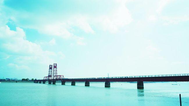Bridge 橋 福岡 Blue 筑後川 重要文化財 機械遺産 昇開橋
