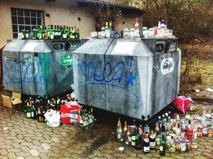 Abfall Flaschensammlung Flasche Leer