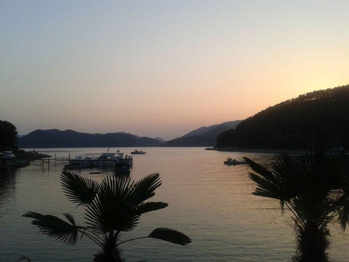 South Korea Changwon Silhouette Sky And Sea