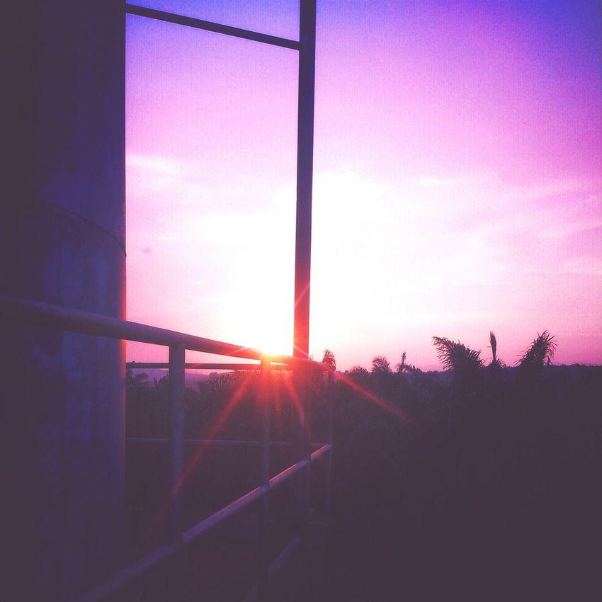 Sunset Relaxing Enjoying Life Beautiful