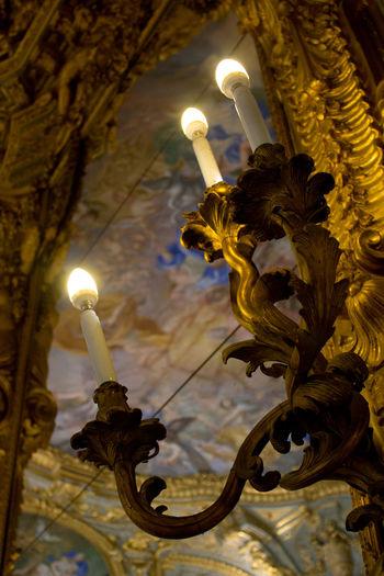 Curch Electricity  Gold Illuminated Lantern Lighting Equipment Night Old Light