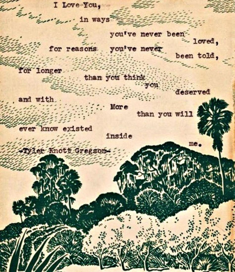 Tylerknottgregson Poetry Poemoftheday Love