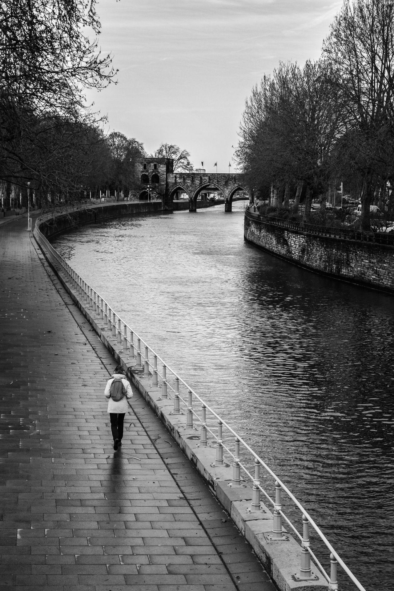Streetphotography Belgium Tournai Blackandwhite People Sony Riverside Bridge City Walk This Way