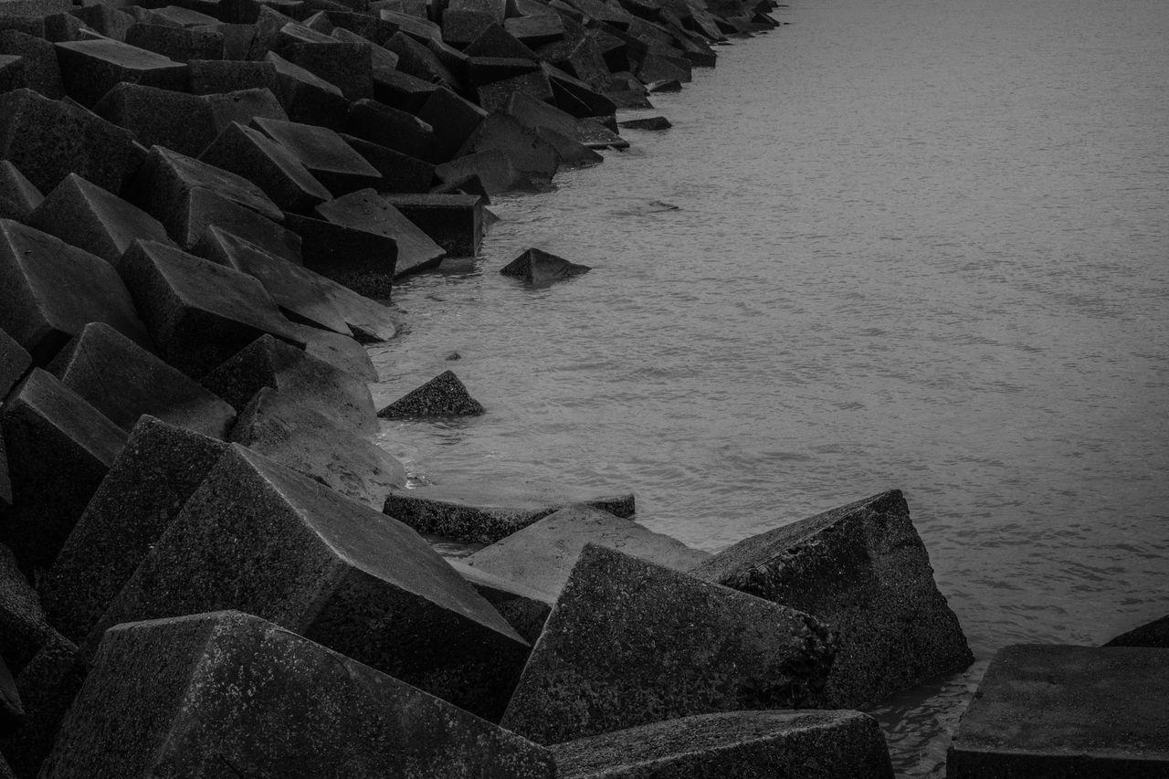 Winter by the Sea Harbour Landscape Nature Rain Scheveningen  Sea Stone Water Wave Wet Winter