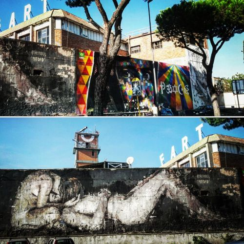 Streetart Mural Streetphotography Muralesart Murales Colors Dailyphoto Rome Italy Spanishartist Brazilianart Building Exterior Architecture Built Structure Outdoors Day No People First Eyeem Photo