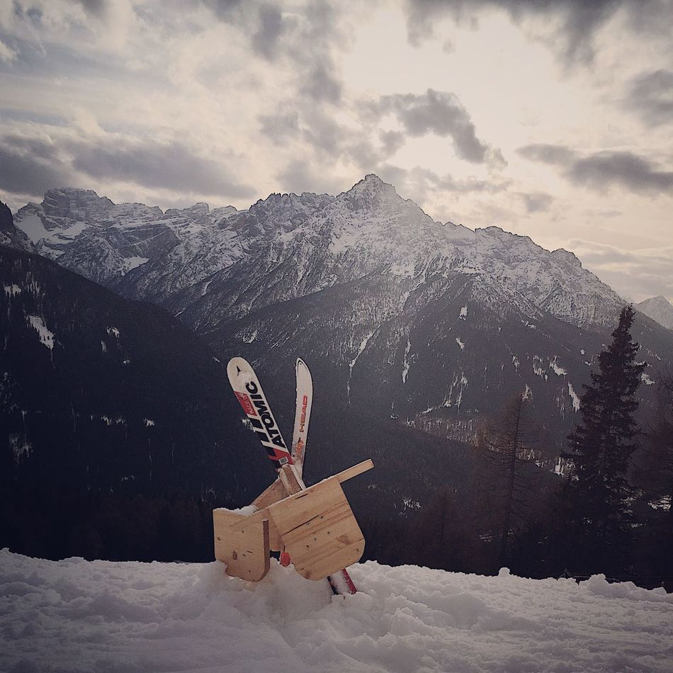Snow Winter Mountain Cold Temperature Mountain Range Weather Nature Sky Beauty In Nature Landscape Scenics Cloud - Sky Snowcapped Mountain Outdoors Day No People Warm Clothing Pockl Böckling Bob Sexten Hochpustertal Alta Pusteria Val Pusteria Alto Adige