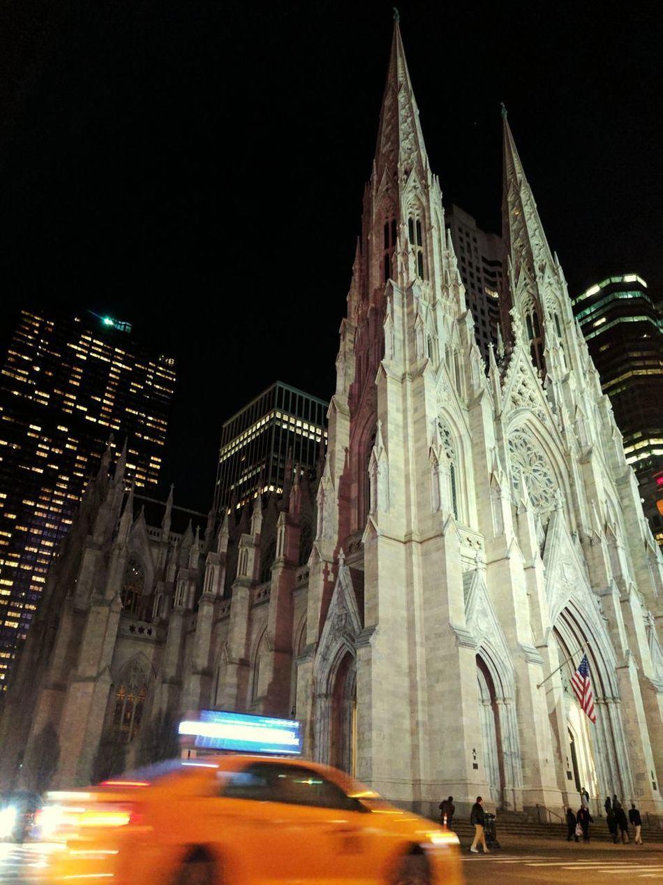 Churchtower NYC LIFE ♥ Nyctaxis Fastlife NYCNights Transportation Car City Night Travel Traffic Motion Travel Destinations Blurred Motion First Eyeem Photo