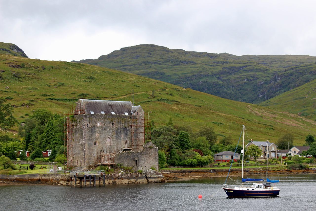 Architecture Building Exterior Built Structure Carrick Castle Day Loch Goilhead Mountain Nature Nautical Vessel No People Outdoors Sea Sky Transportation Water Waterfront