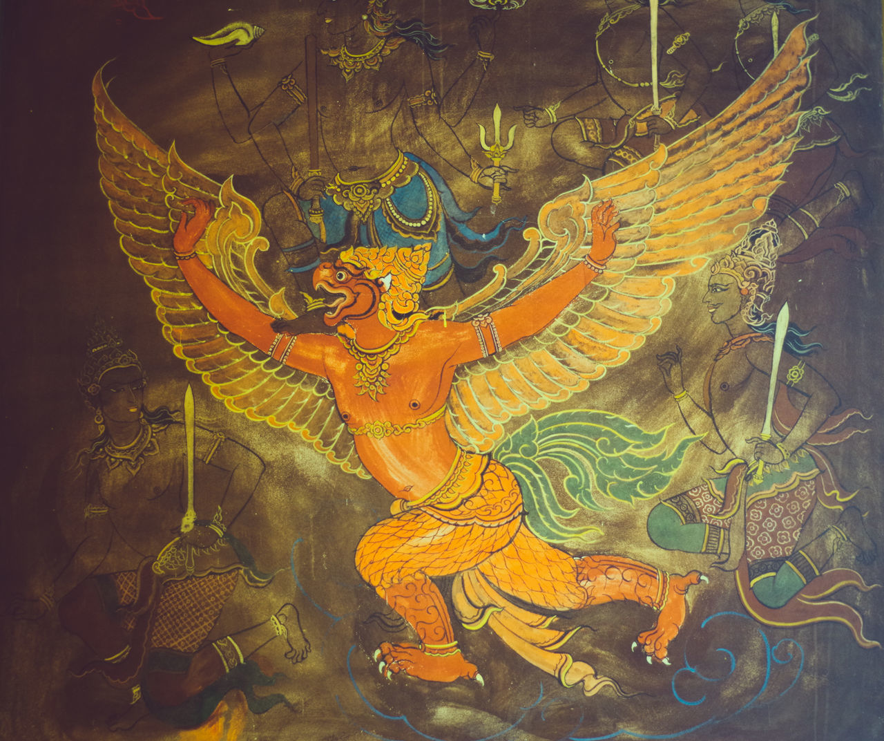 Backgrounds ArtWork Asian Culture Asiangeographic Garuda Thai Temple Tem