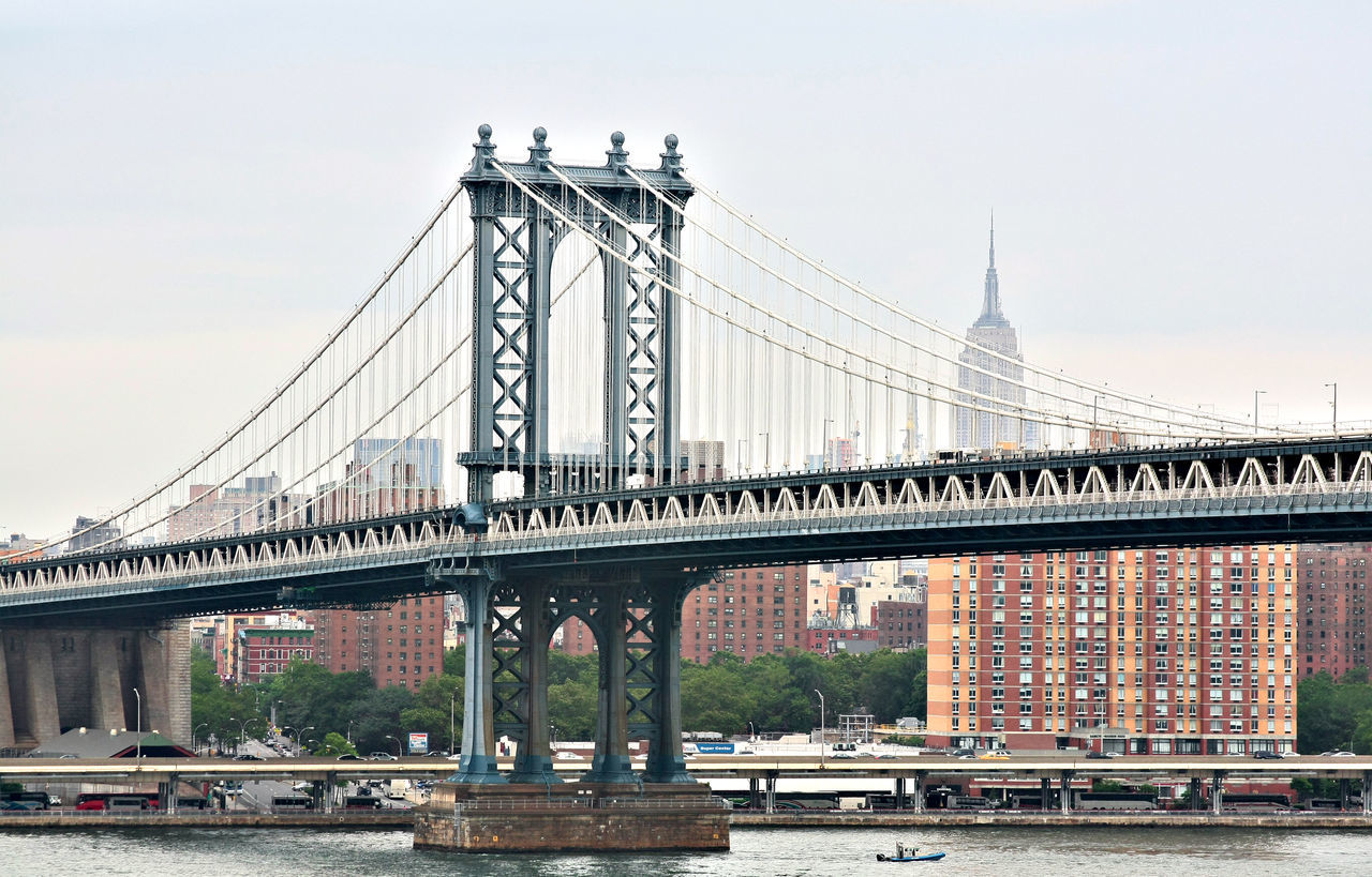 Architecture Bridge - Man Made Structure Building Exterior Built Structure City Connection Day Engineering New York City No People Outdoors Sky Suspension Bridge Transportation Travel Travel Destinations Water