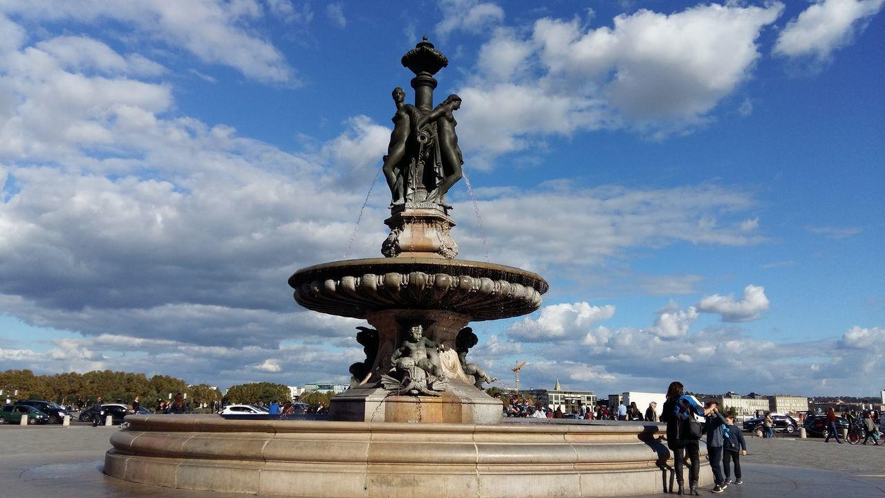 Bordeaux Statue Cloud - Sky Trois Graces Fountain Travel Destinations Place De La Bourse France My Year My View The City Light