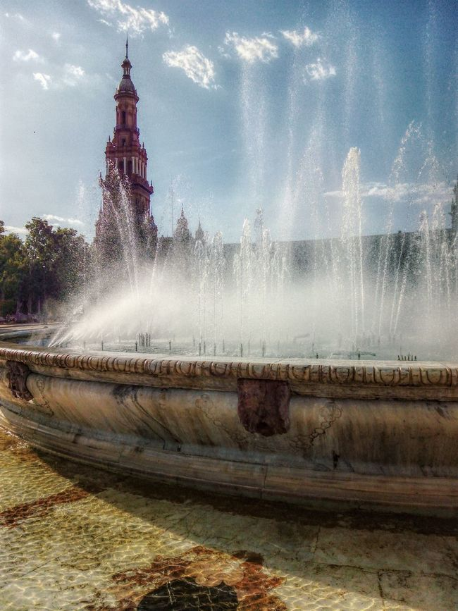 Summer Eyemphotography Photos Spain♥ Seville Fountain Hotweather Water Culture Traditional EyeEm Best Shots Viajar Travel Photography Photo Trip Eyembestshot España Medieval Sunny Summertime Refresh Peace Andalusia Photo Of The Day