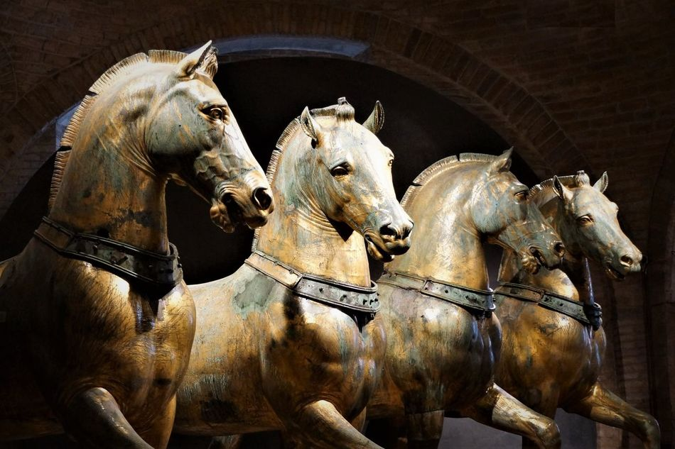 Chiesa de San Marco horses Animal Themes Bronze Sculpture Byzantinic Close-up Dogenpalast Instagood Museum Night No People Religion