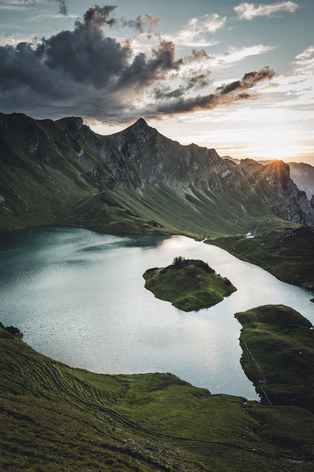 Every lake is better with an island. Germany Landscape Scenics Travel Destinations Outdoors Beauty In Nature Water Sky Nature Tranquil Scene Cloud - Sky No People Mountain Day