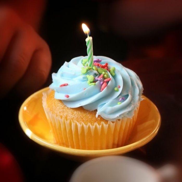 Happy Birthday! Cake Cupcake Candle