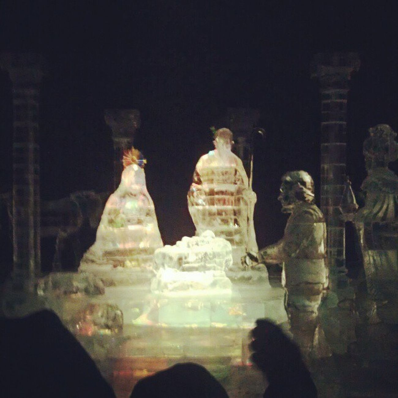 Nativity Scene at the end of Ice at the NationalHarbor