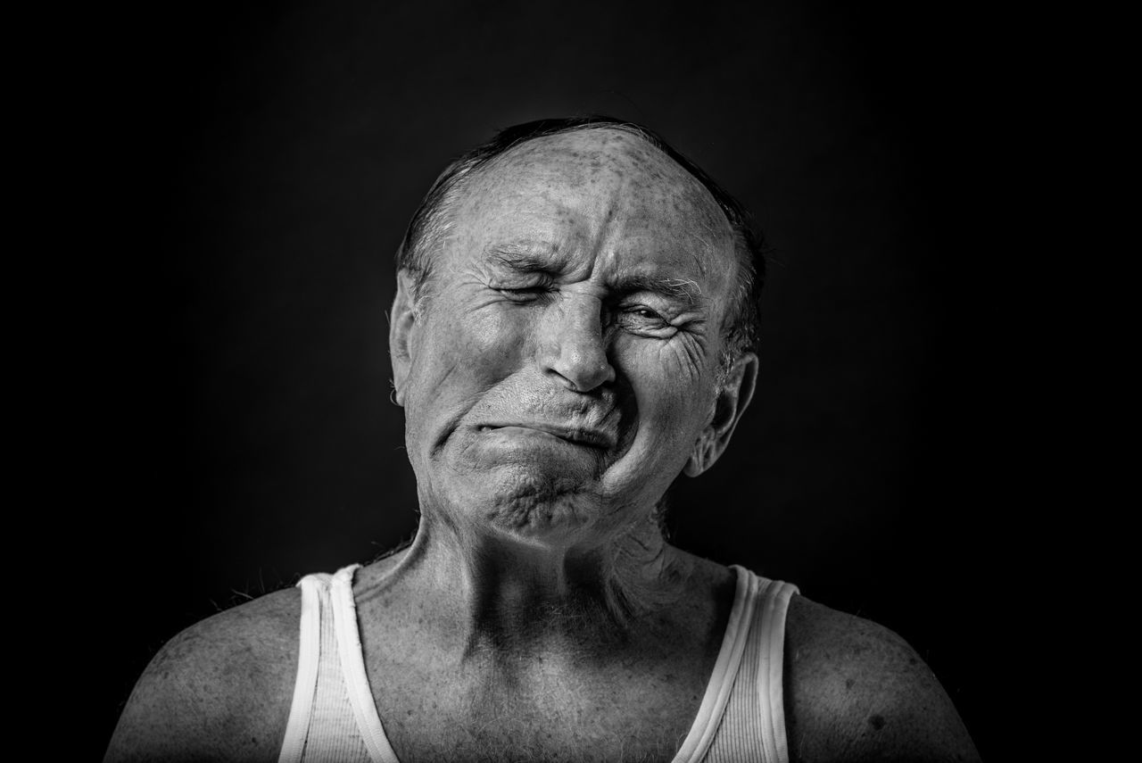Adult Adults Only Black And White Black Background Black Background Blackandwhite Close-up Human Face Looking At Camera One Man Only One Person Only Men People Portrait Portrait Photography Senior Adult Senior Men Studio Photography Studio Shot BYOPaper! The Portraitist - 2017 EyeEm Awards