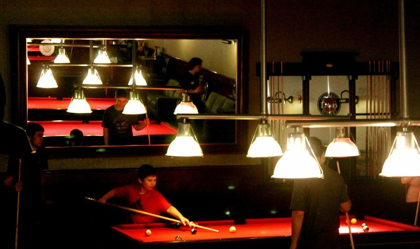 Getting Creative New York Red Pooltable White Light Popular Photos EyeEm Gallery Kids Playing Mirrored