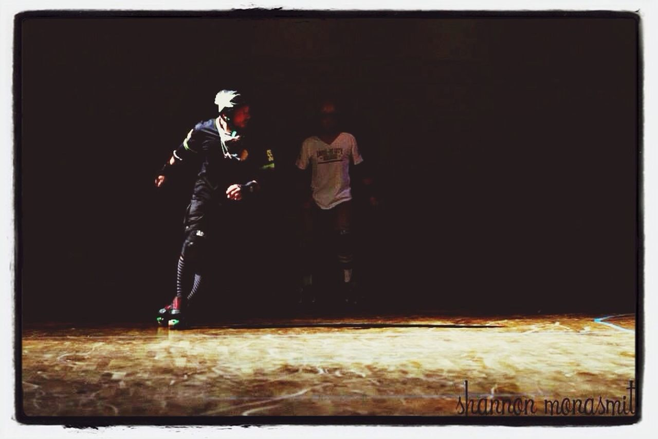full length, two people, night, soccer, real people, sport, men, outdoors, adult, people