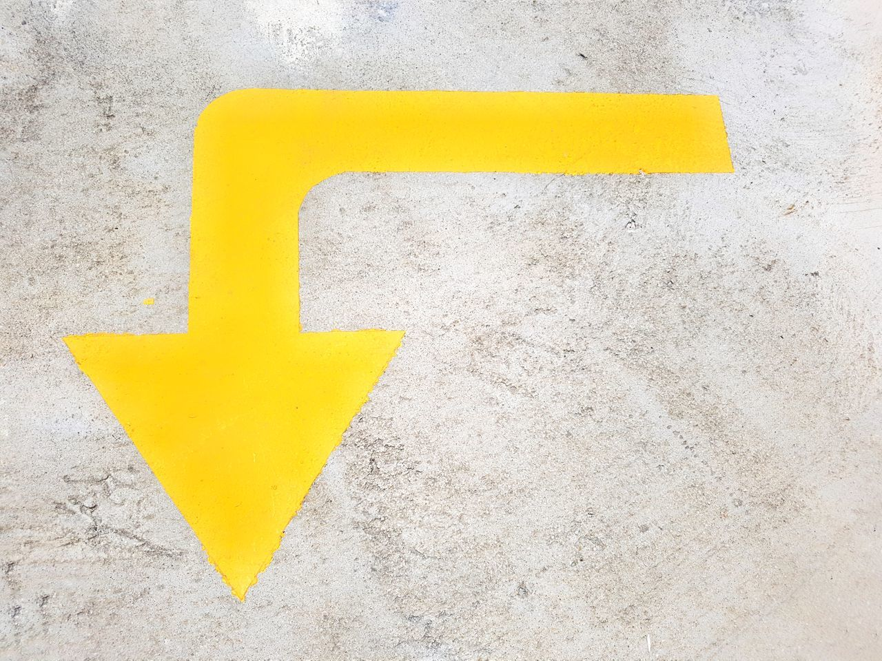 Arrow Arrow Symbol Road Signal Asphalt Concrete Background Texture Yellow Yellow Arrow Pavement Direction Showing Direction Road Signage