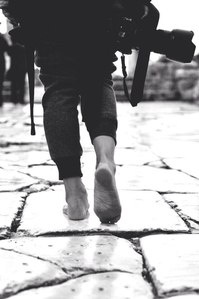 Walking... Black And White Turkey