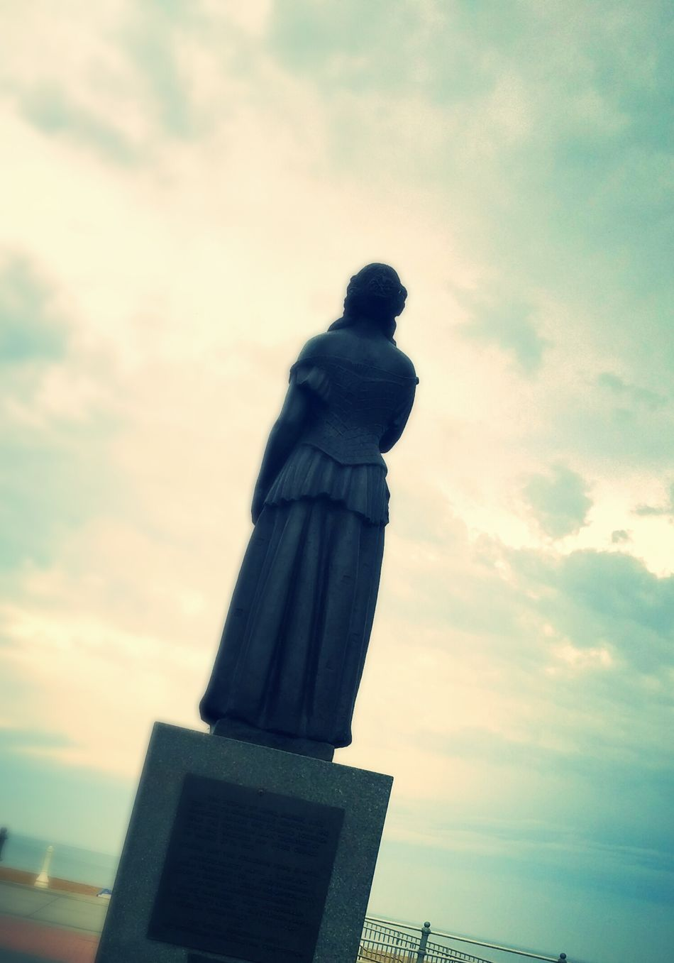 Statue Looking Out To Sea. Virginia Beach