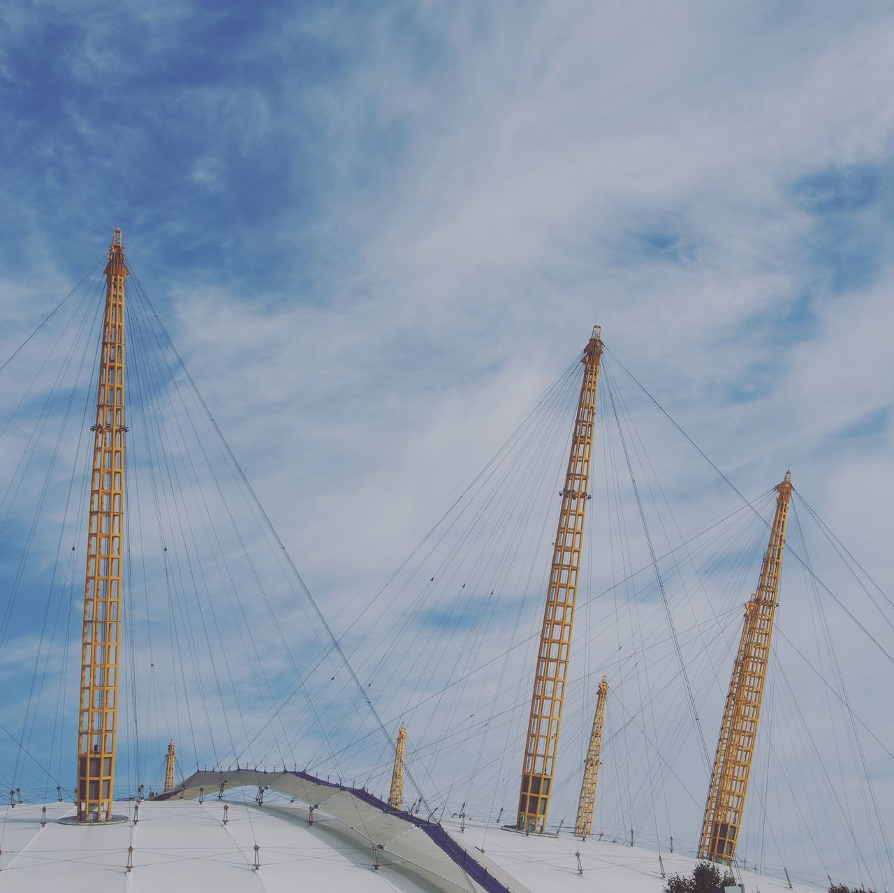 Outdoors Built Structure Connection Bridge - Man Made Structure Day O2 Arena Cloud - Sky No People Travel Tourism