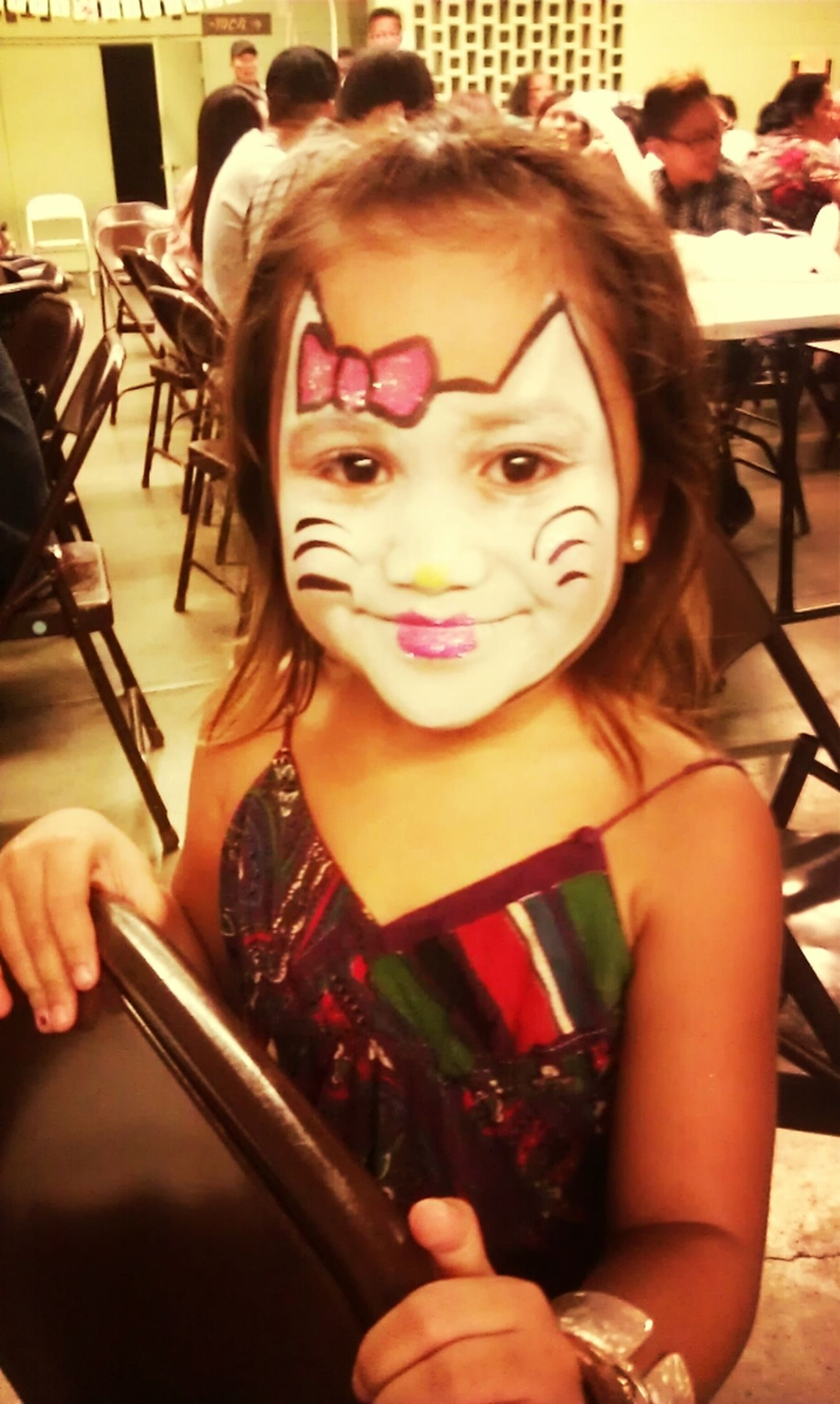Hello Kitty Face Paint My Beauty Hawaiian KAiPO'i Arianna's 1st Birthday