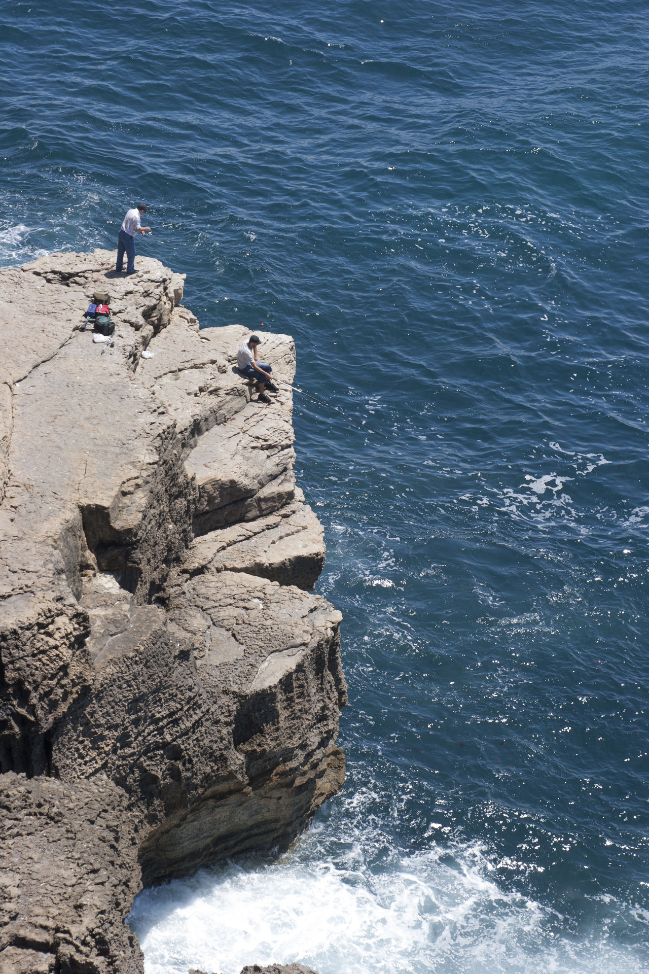 Beautiful stock photos of ocean, Cliff, Day, Elevated View, Fisherman
