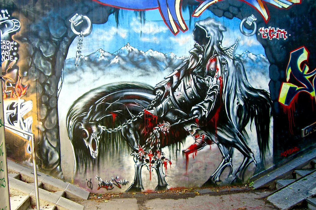 Art ArtWork Cityscape Graffiti Graffiti Art Outdoors Wall Wall Art