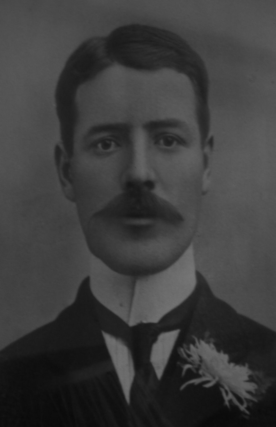 1900s Adult Close-up Day Formal Portrait Front View Headshot Human Body Part Human Face Indoors  Lifestyles Looking At Camera Men Old Photo One Man Only One Person One Young Man Only People Portrait Real People Turn Of The Century Young Adult