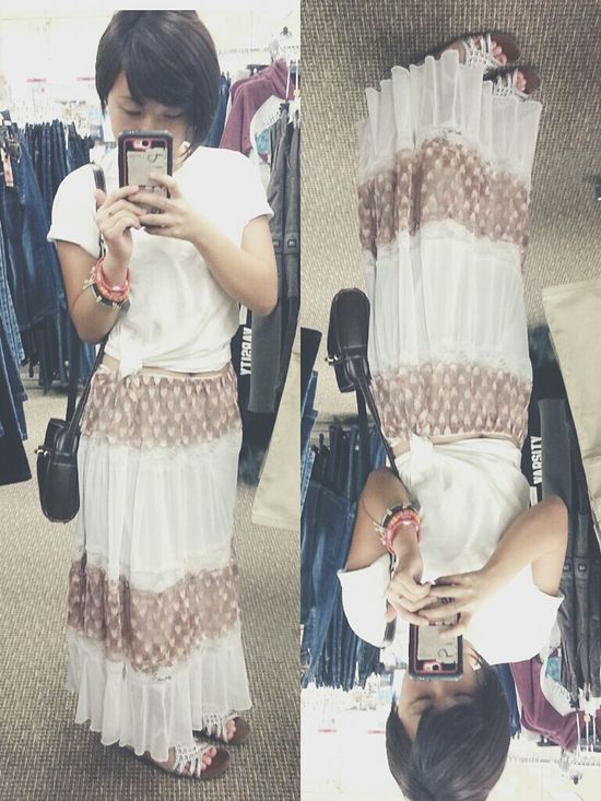 Ootd Just Me Long Skirt Outfit