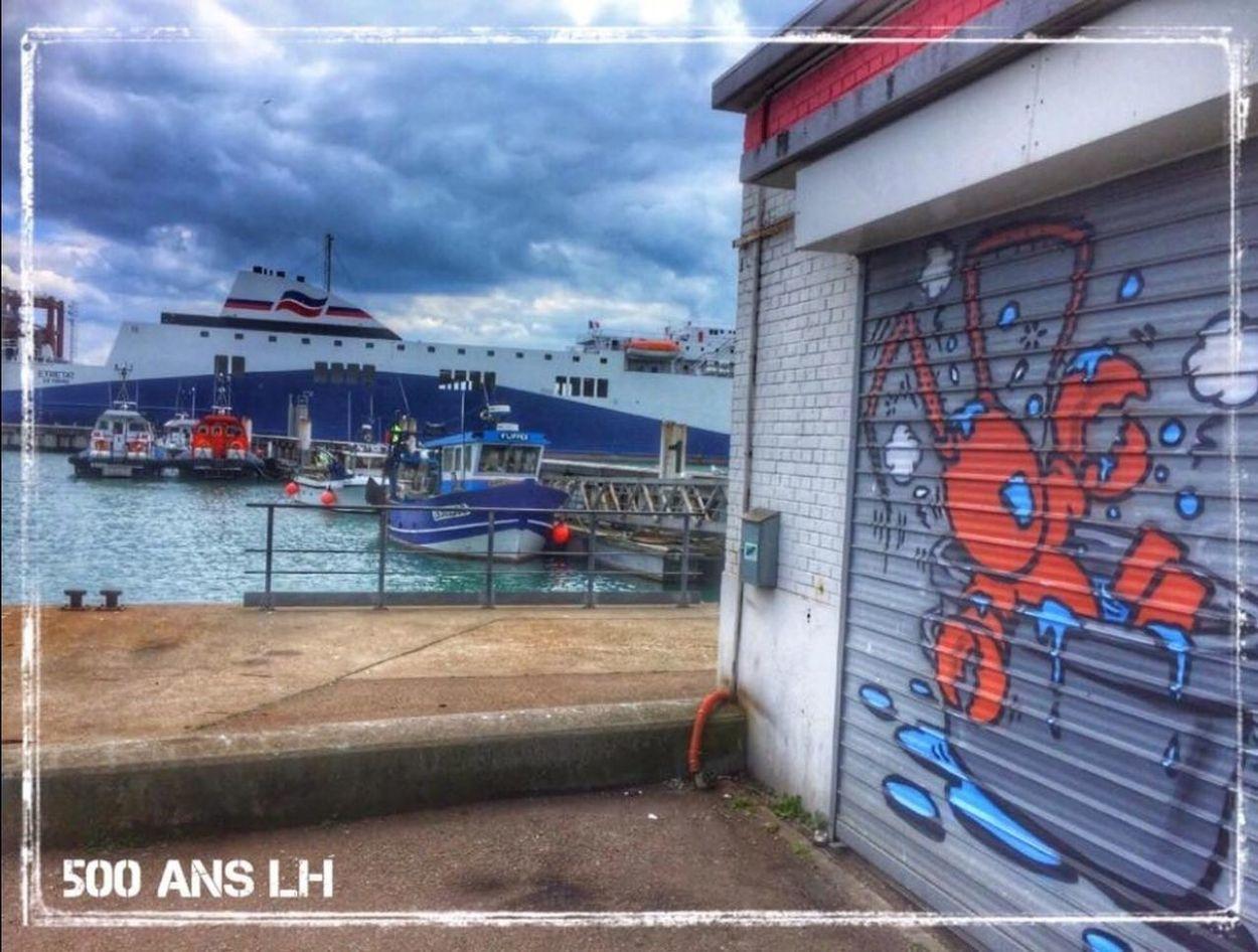 Lehavre LH Jace Gouzou 500anslehavre Port Port Du Havre Cloud - Sky Graffiti Sea Streetart Streetart/graffiti Mycity Catchmeifyouspraycan