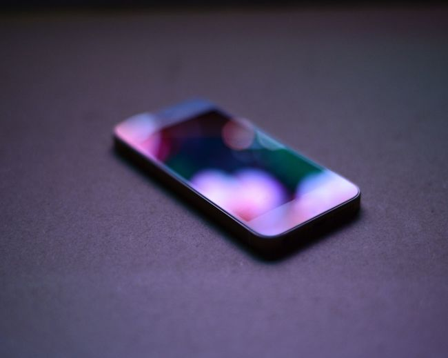 Close-up Focus On Foreground Geometric Shape Indoors  Man Made Object Mobile Phone Model - Object No People Pink Color Red Reflection Selective Focus Single Object