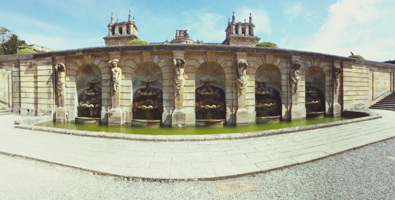 Fountain Wall Architecture Built Structure History Architectural Column Culture Façade Outdoors Stone Material No People Blenheimpalace Blenheimpalacegardens Wall Fountains Day Famous Place Architectural Feature