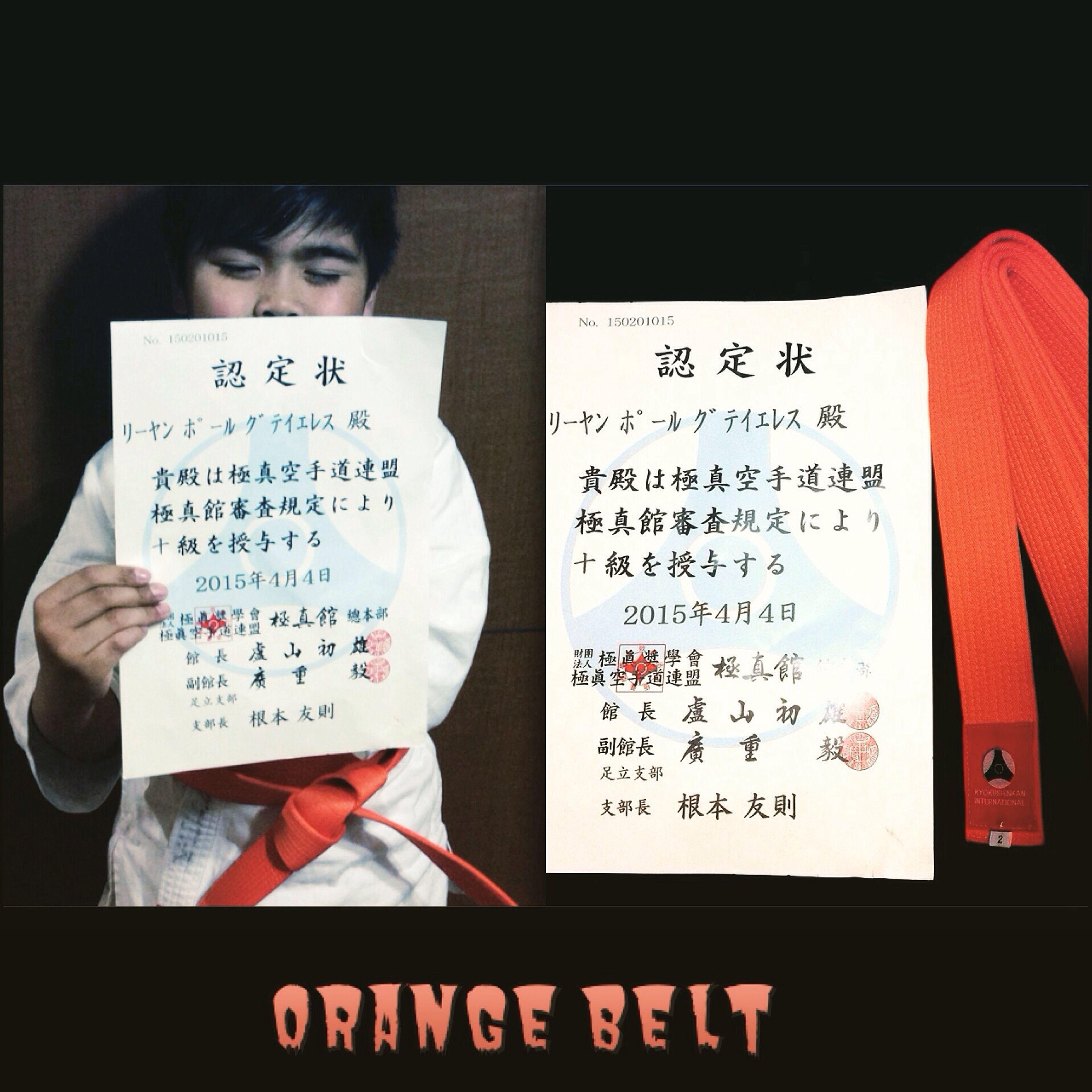 Got his orange beltv(^_^v)♪Congrats my love Children EyeEm Phillipines Blessed  Children Photography Childhood Tokyo,Japan Kyokushin Orangebeltawardee Child Kids