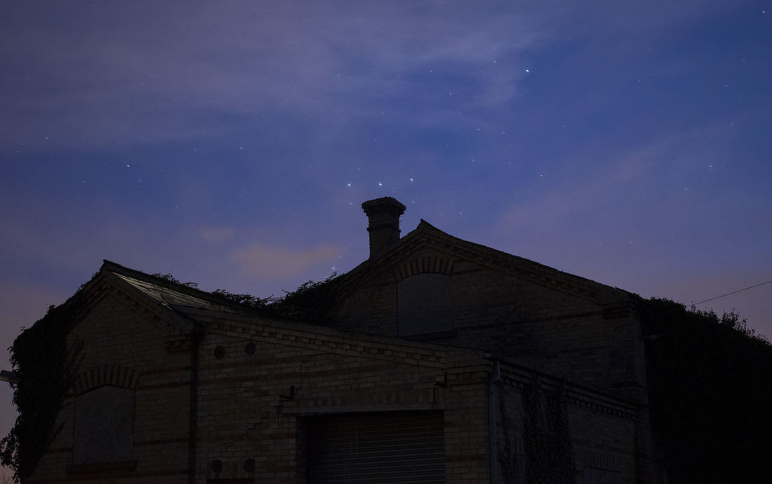 Abandoned Abandoned Places Architecture Building Cloud - Sky Dark Desolate Long Exposure Low Angle View Night Nikon Sky Stars Urbexphotography Orions Belt