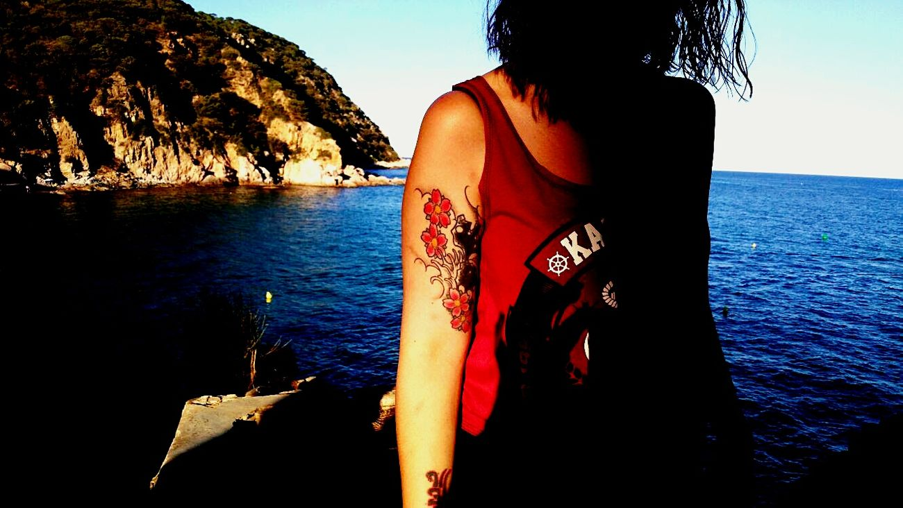 Water Summer Vacations Beauty In Nature Costabrava Girl Tattoo Tattoogirl Mountain Acantilados Verano Beautiful Place Relax